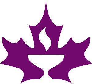 This is the Canadian Unitarian Council symbol, uniting the maple leaf and the flaming chalice of our free faith.