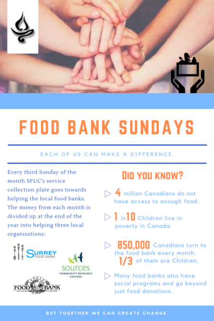 Food Bank Sunday @ SFUC | Surrey | British Columbia | Canada