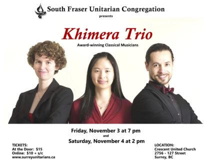 Khimera Trio @ SFUC | Surrey | British Columbia | Canada