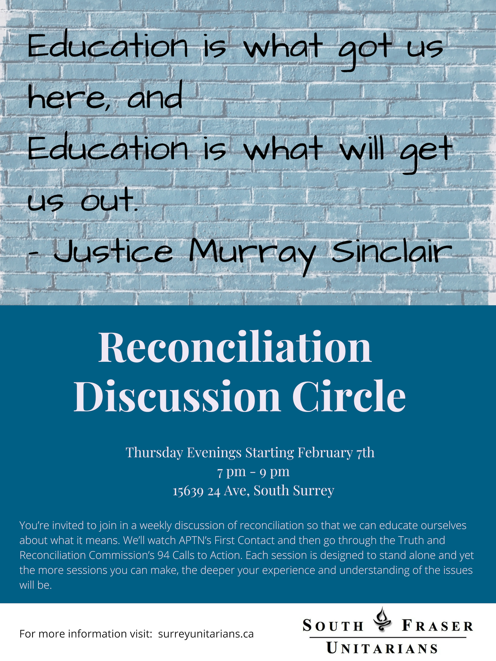 Reconciliation Discussion Circle @ SFUC | Surrey | British Columbia | Canada